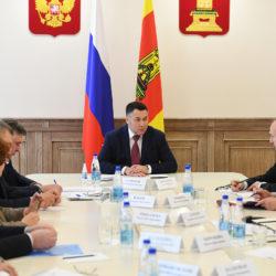 Губернатор Руденя провел встречу с главами муниципалитетов